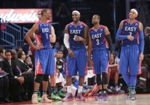 Chris Bosh, LeBron James, Dwyane Wade, Carmelo Anthony
