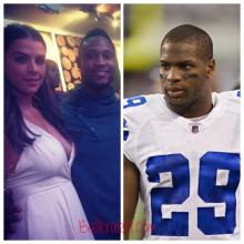 Left: Clay with his wife Right: Demarco Murray